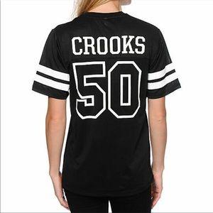 Womens CROOKS & CASTLES 50-51 Black Football style